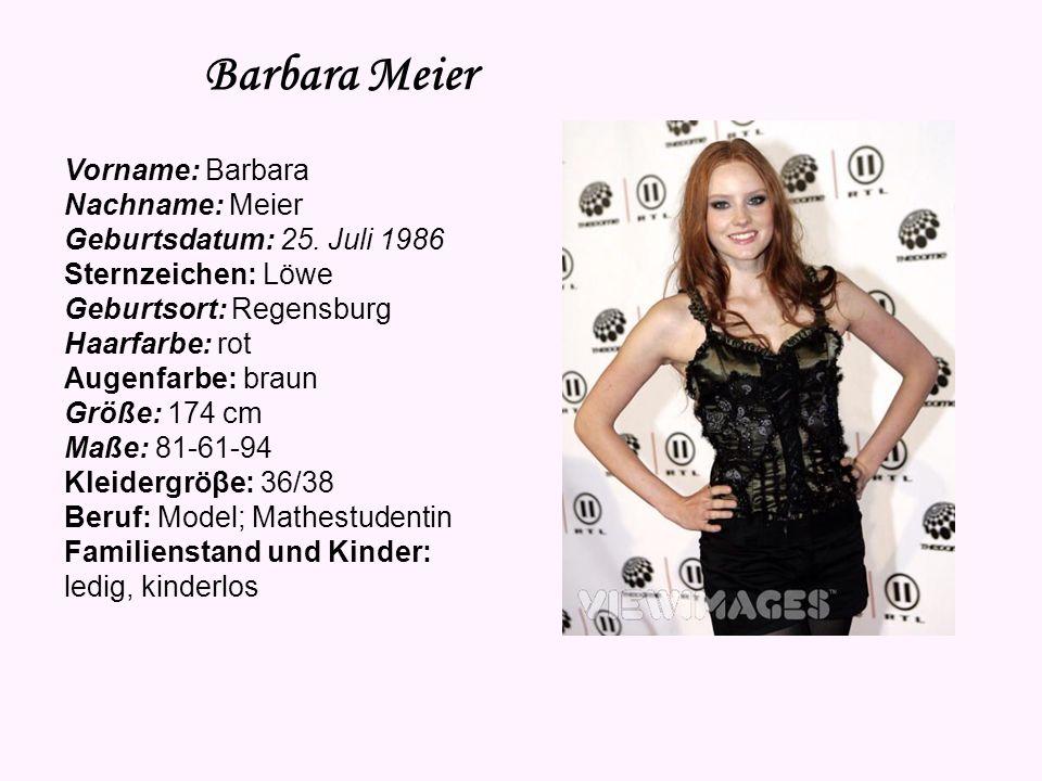 Barbara Meier Vorname: Barbara Nachname: Meier