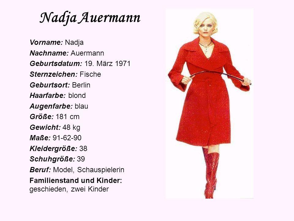 Nadja Auermann Vorname: Nadja Nachname: Auermann