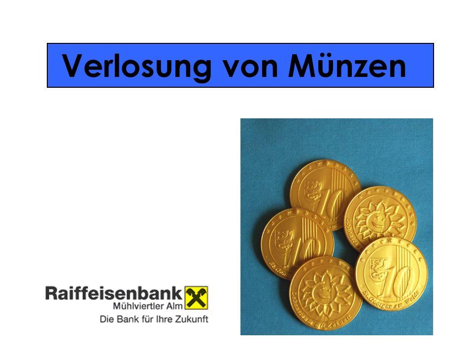 Verlosung von Münzen