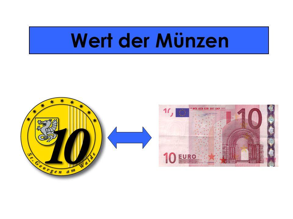 Wert der Münzen