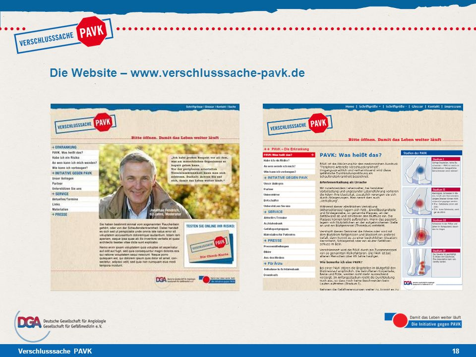Die Website –