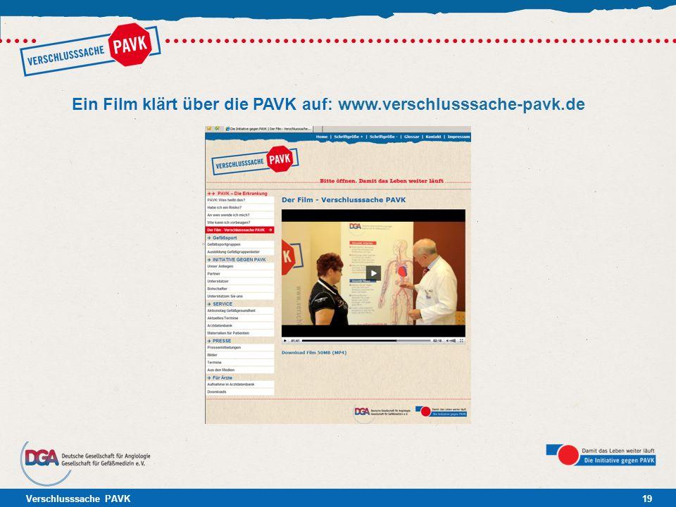 Ein Film klärt über die PAVK auf: www.verschlusssache-pavk.de