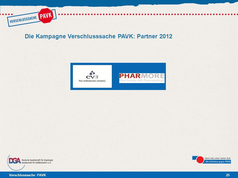 Die Kampagne Verschlusssache PAVK: Partner 2012