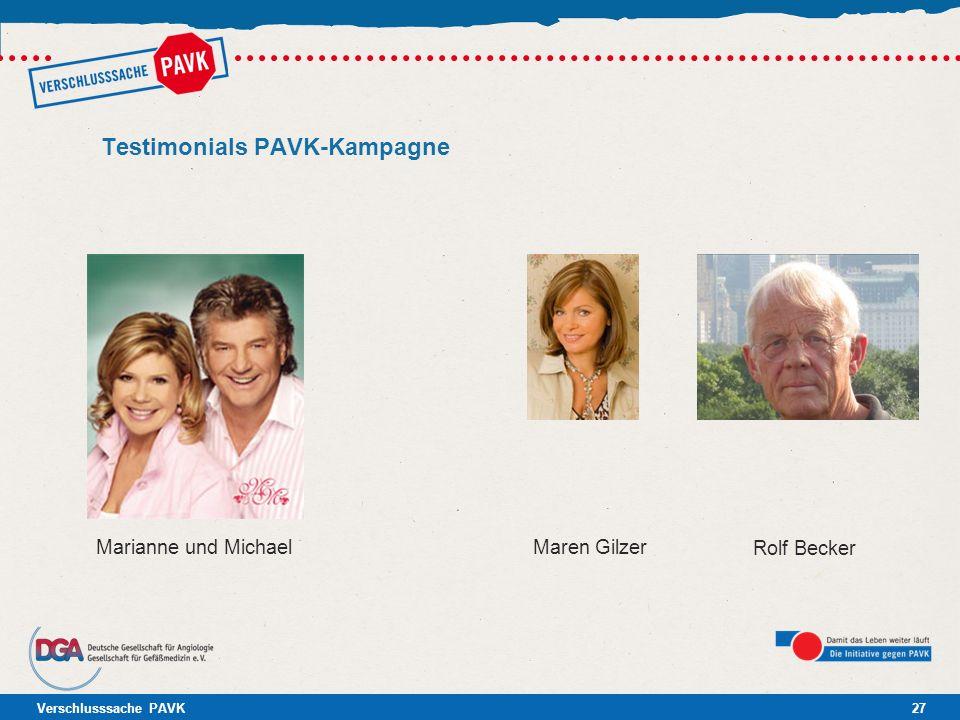Testimonials PAVK-Kampagne