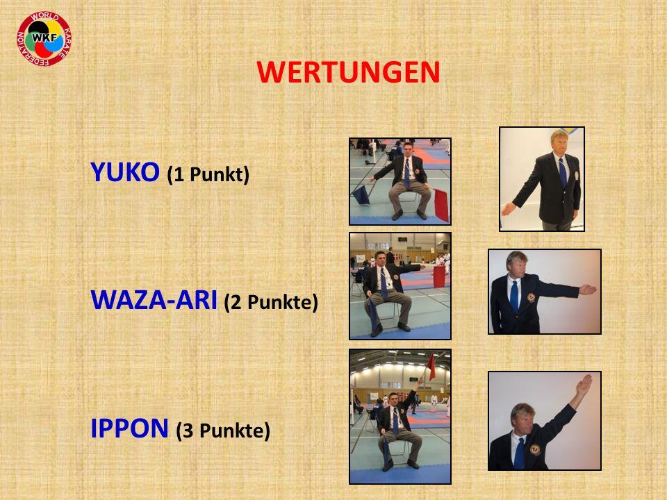 WERTUNGEN YUKO (1 Punkt) WAZA-ARI (2 Punkte) IPPON (3 Punkte) 24