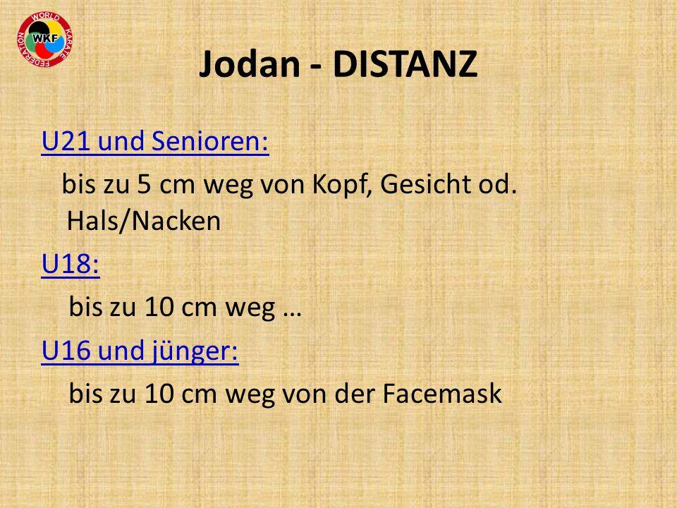Jodan - DISTANZ U21 und Senioren:
