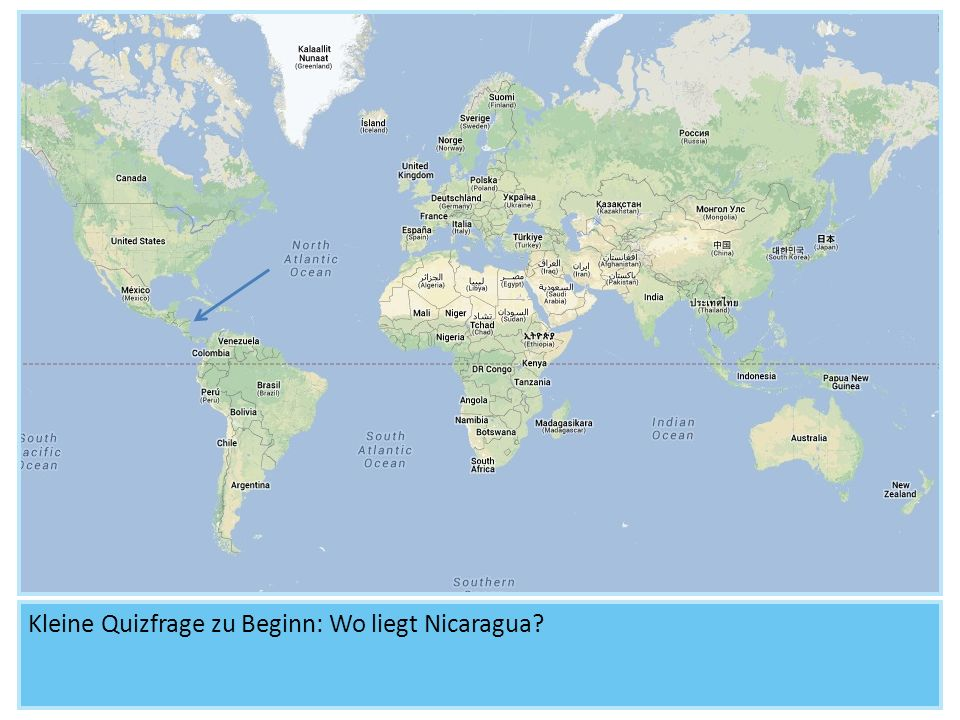 Kleine Quizfrage zu Beginn: Wo liegt Nicaragua