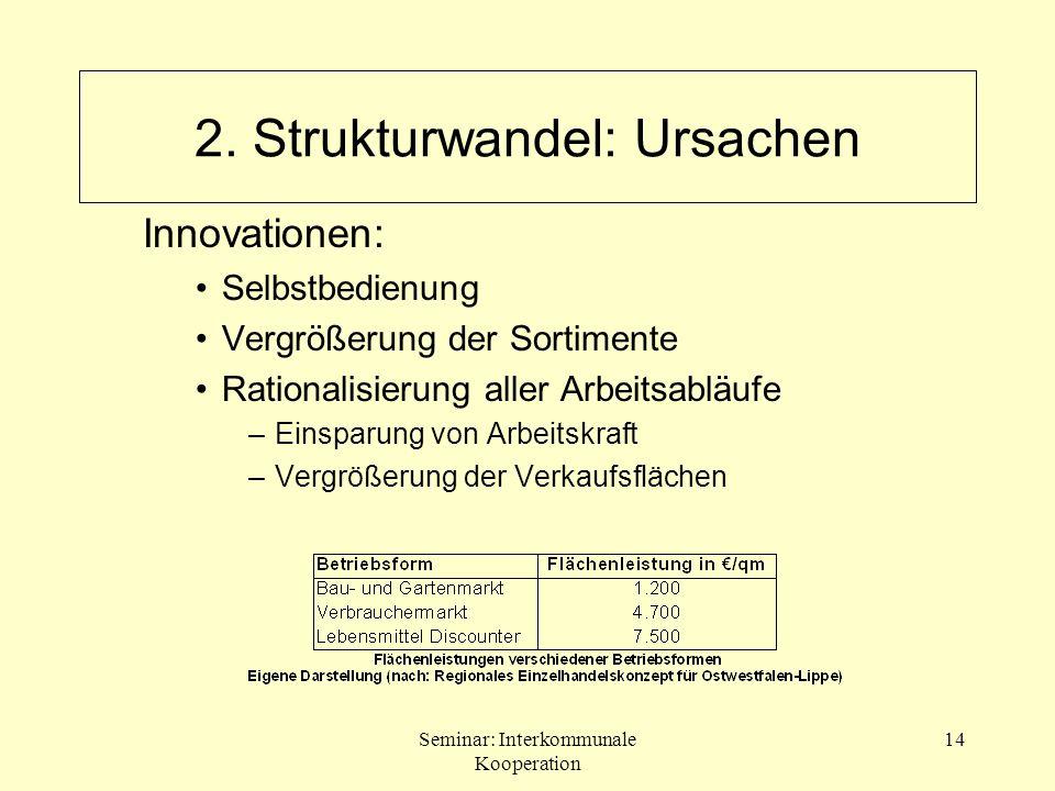 2. Strukturwandel: Ursachen