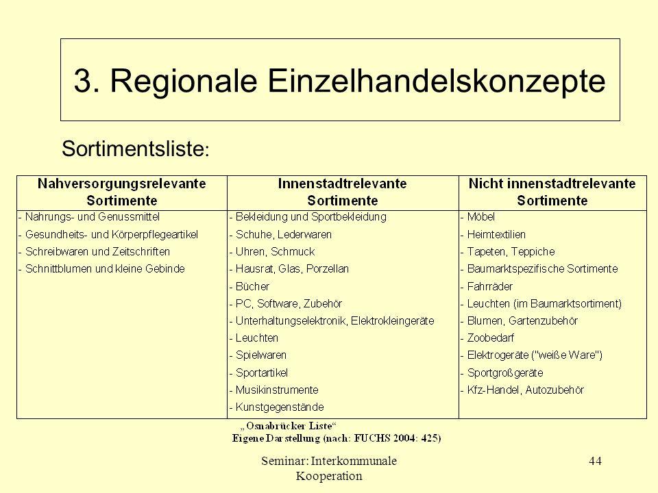 3. Regionale Einzelhandelskonzepte
