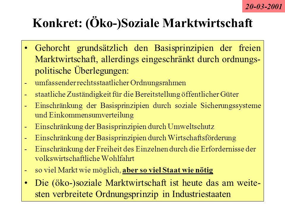 Konkret: (Öko-)Soziale Marktwirtschaft