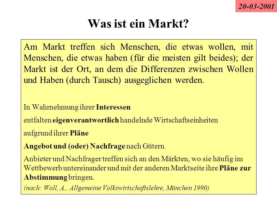 20-03-2001 Was ist ein Markt
