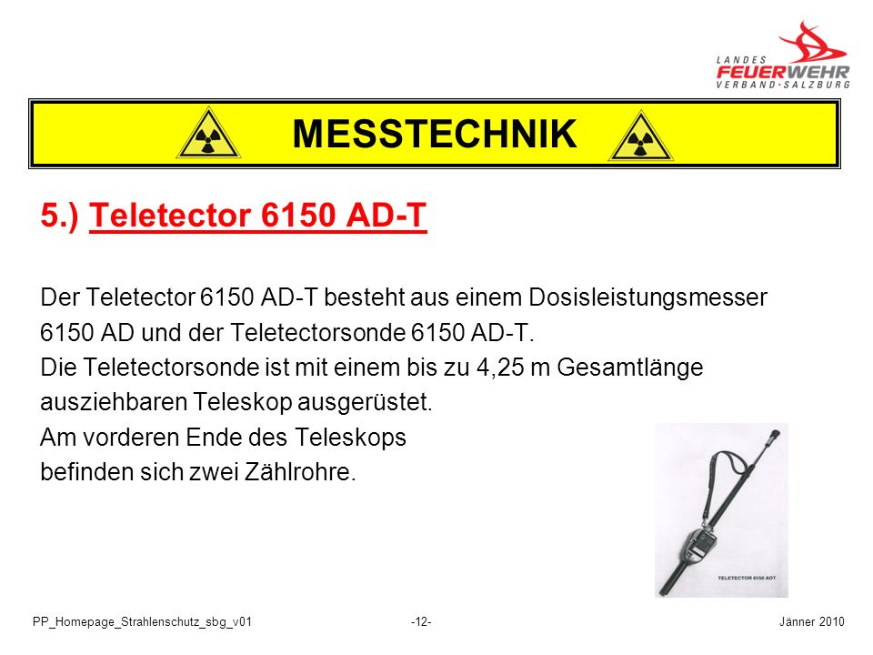 MESSTECHNIK 5.) Teletector 6150 AD-T
