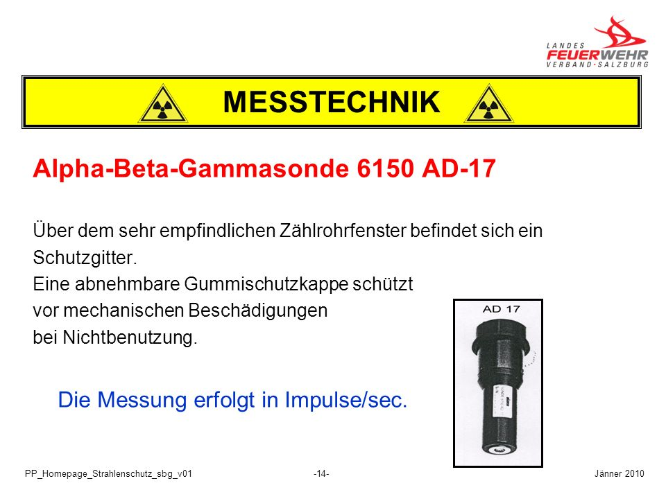 MESSTECHNIK Alpha-Beta-Gammasonde 6150 AD-17