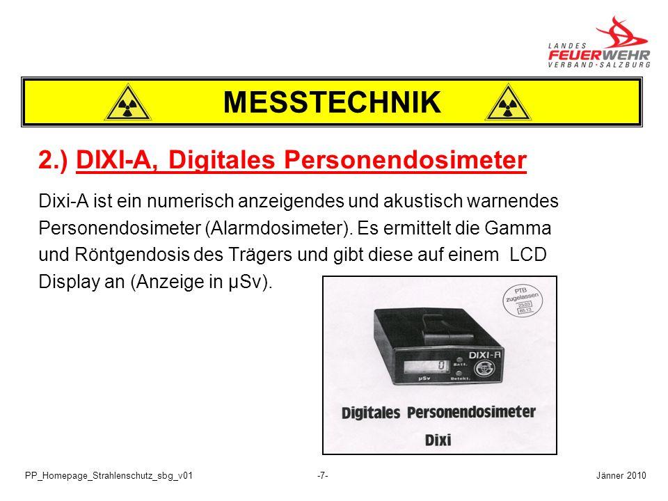 MESSTECHNIK 2.) DIXI-A, Digitales Personendosimeter