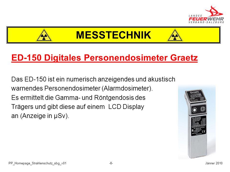 MESSTECHNIK ED-150 Digitales Personendosimeter Graetz