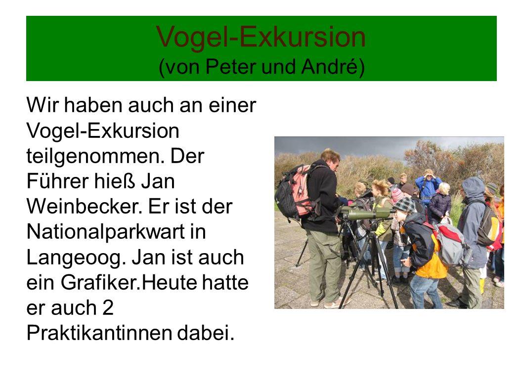 Vogel-Exkursion (von Peter und André)