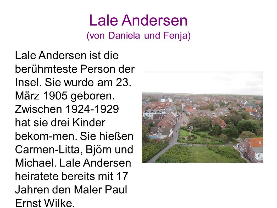 Lale Andersen (von Daniela und Fenja)
