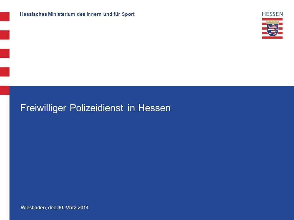 Freiwilliger Polizeidienst in Hessen