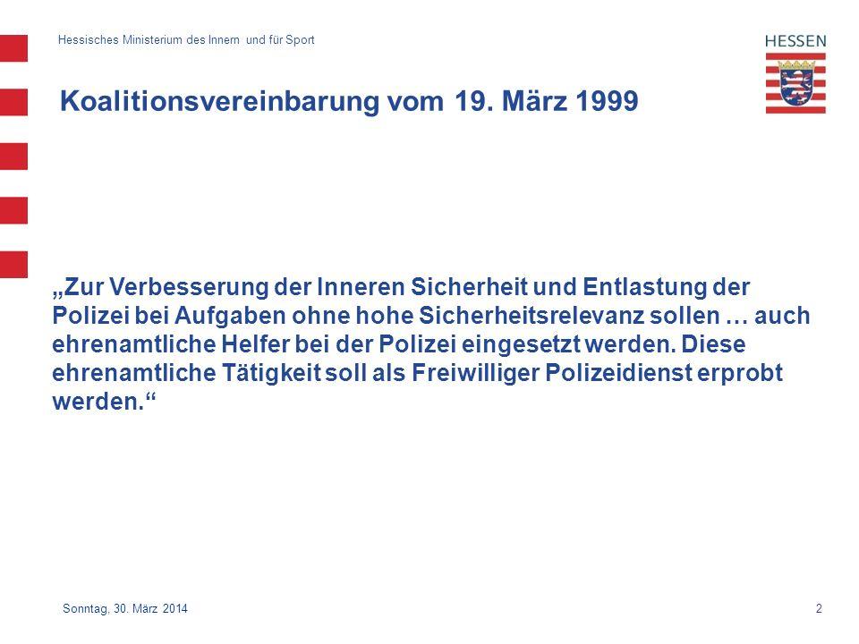 Koalitionsvereinbarung vom 19. März 1999