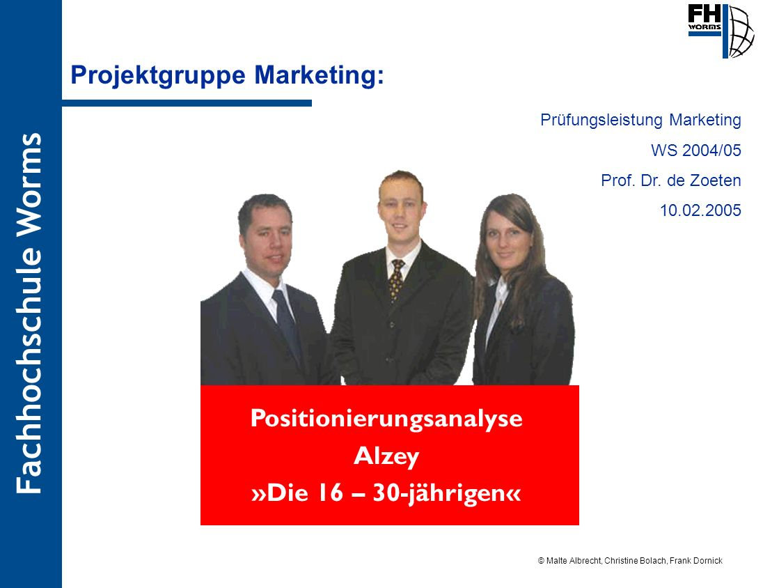Projektgruppe Marketing: