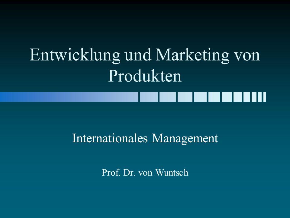 Entwicklung und Marketing von Produkten