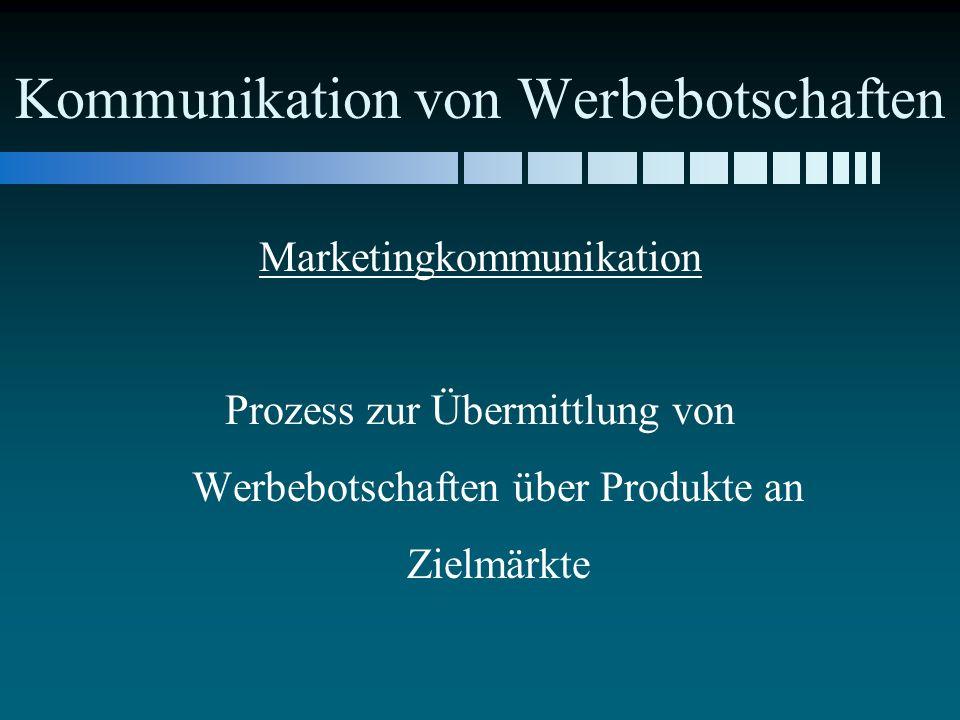 Kommunikation von Werbebotschaften