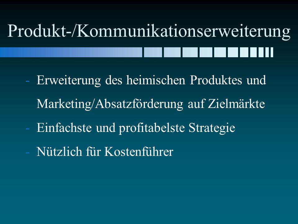 Produkt-/Kommunikationserweiterung