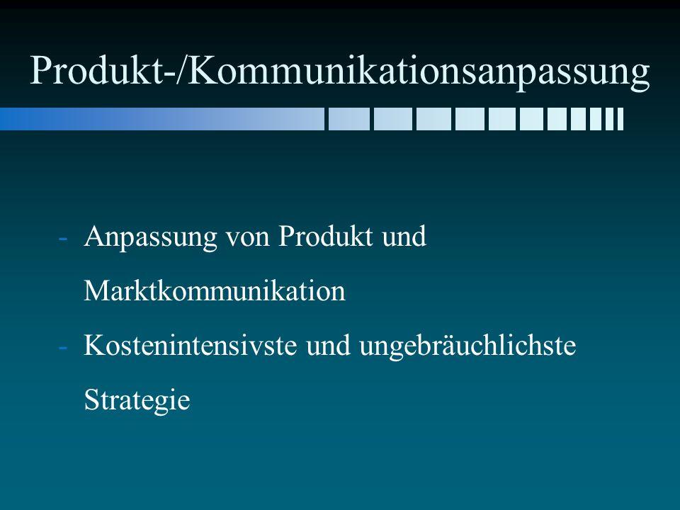 Produkt-/Kommunikationsanpassung