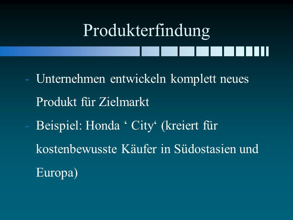 Produkterfindung Unternehmen entwickeln komplett neues Produkt für Zielmarkt.