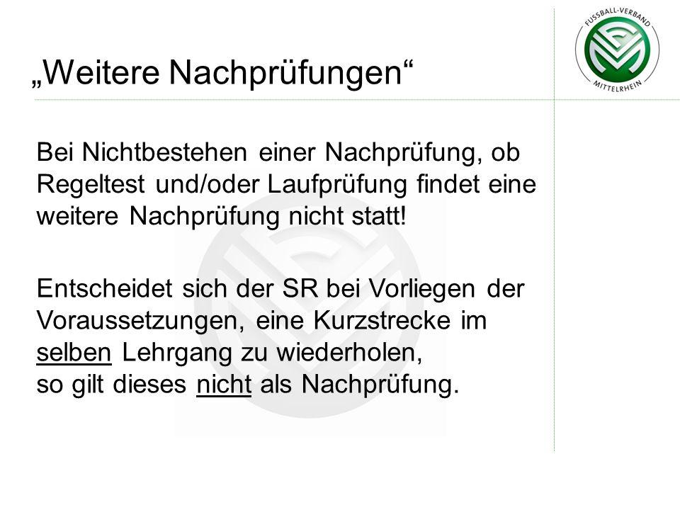 """""""Weitere Nachprüfungen"""