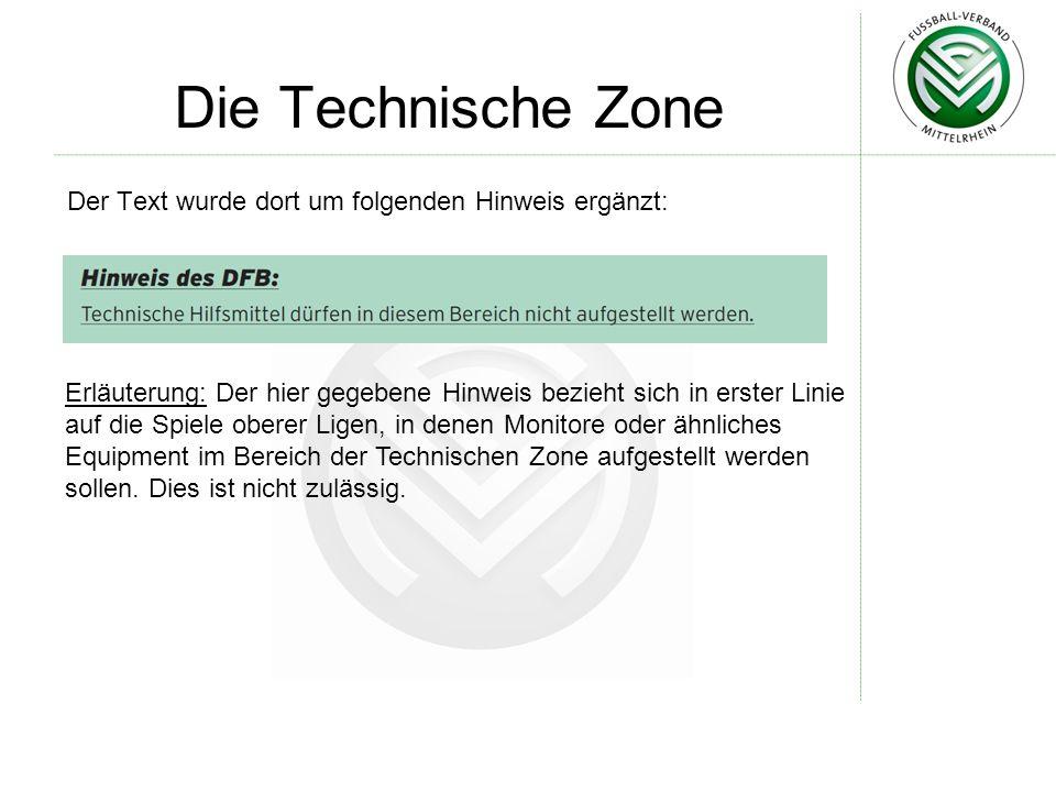 Die Technische Zone Der Text wurde dort um folgenden Hinweis ergänzt: