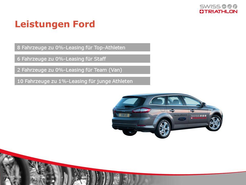 Leistungen Ford 8 Fahrzeuge zu 0%-Leasing für Top-Athleten