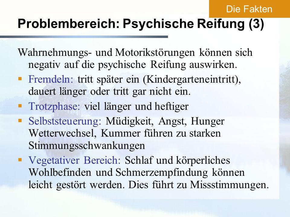 Problembereich: Psychische Reifung (3)