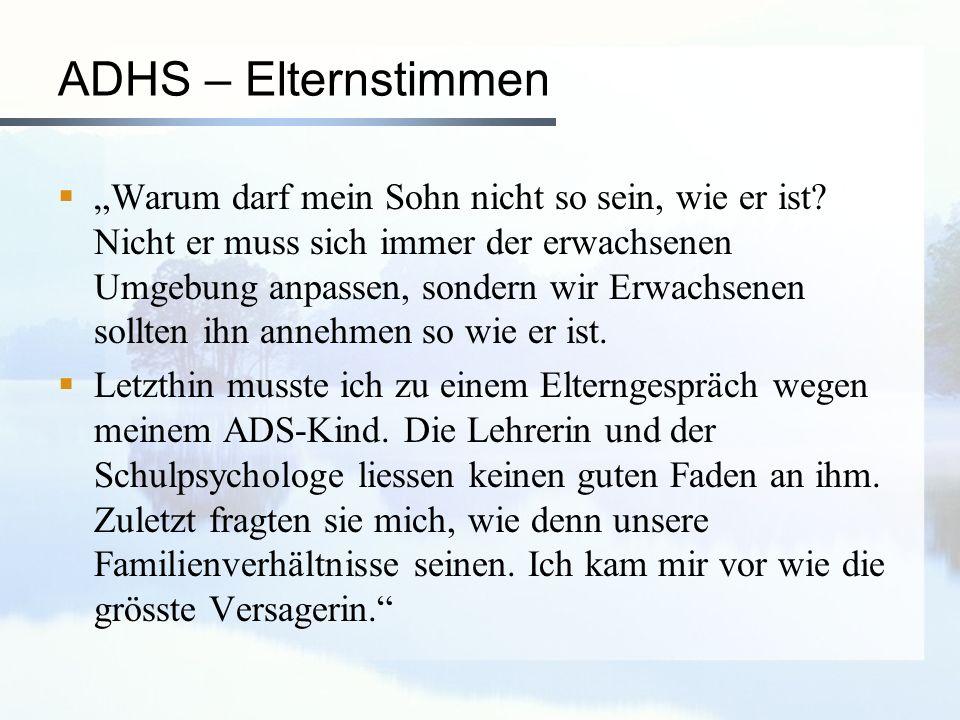 ADHS – Elternstimmen