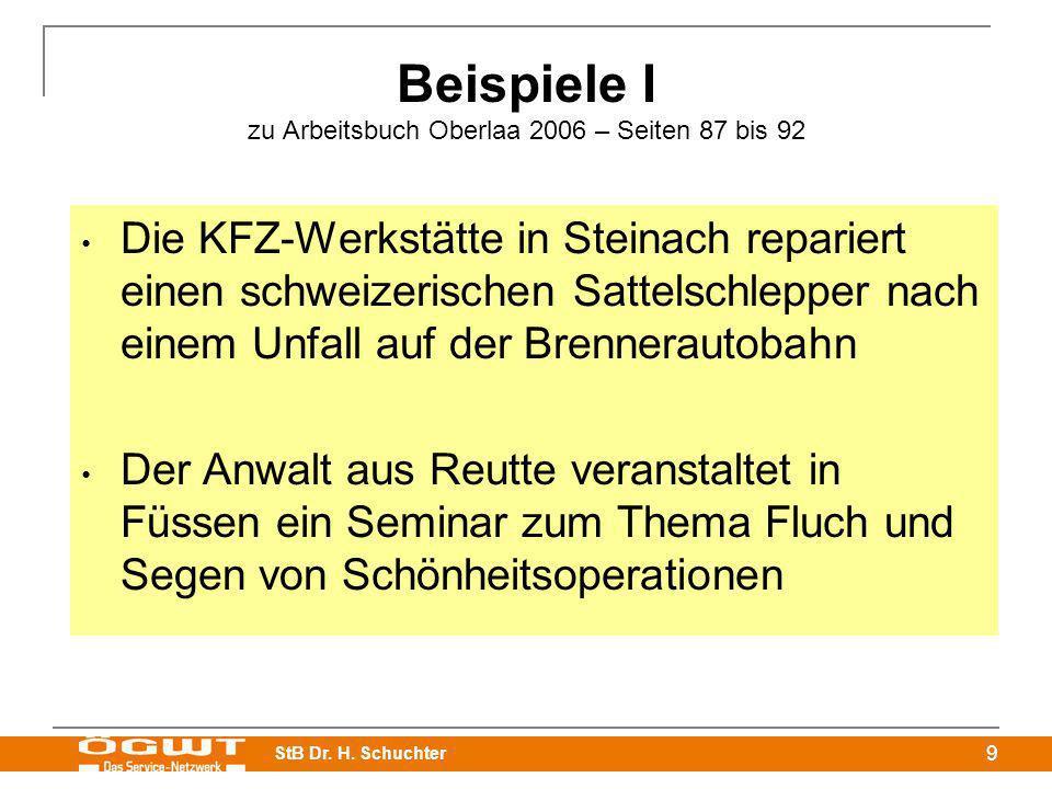 Beispiele I zu Arbeitsbuch Oberlaa 2006 – Seiten 87 bis 92