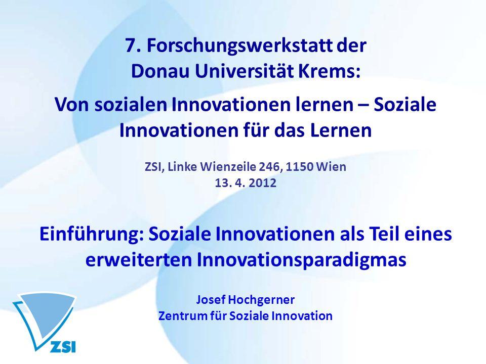 7. Forschungswerkstatt der Donau Universität Krems: