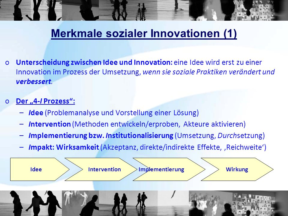 Merkmale sozialer Innovationen (1)