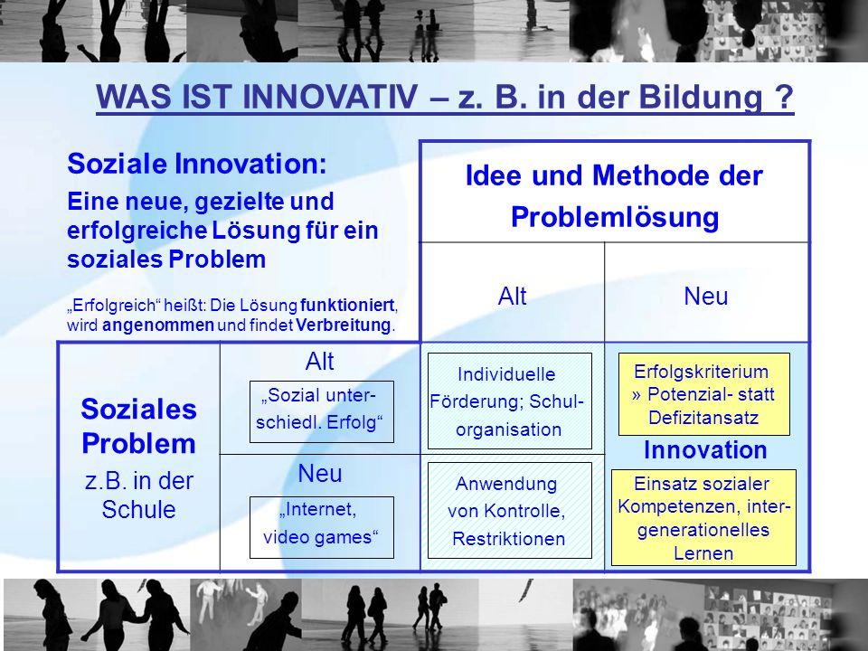 Idee und Methode der Problemlösung Soziales Problem