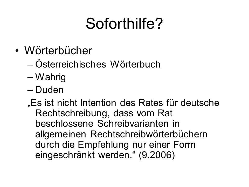 Soforthilfe Wörterbücher Österreichisches Wörterbuch Wahrig Duden
