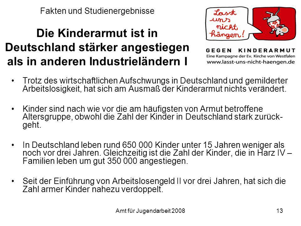 Fakten und Studienergebnisse Die Kinderarmut ist in Deutschland stärker angestiegen als in anderen Industrieländern I
