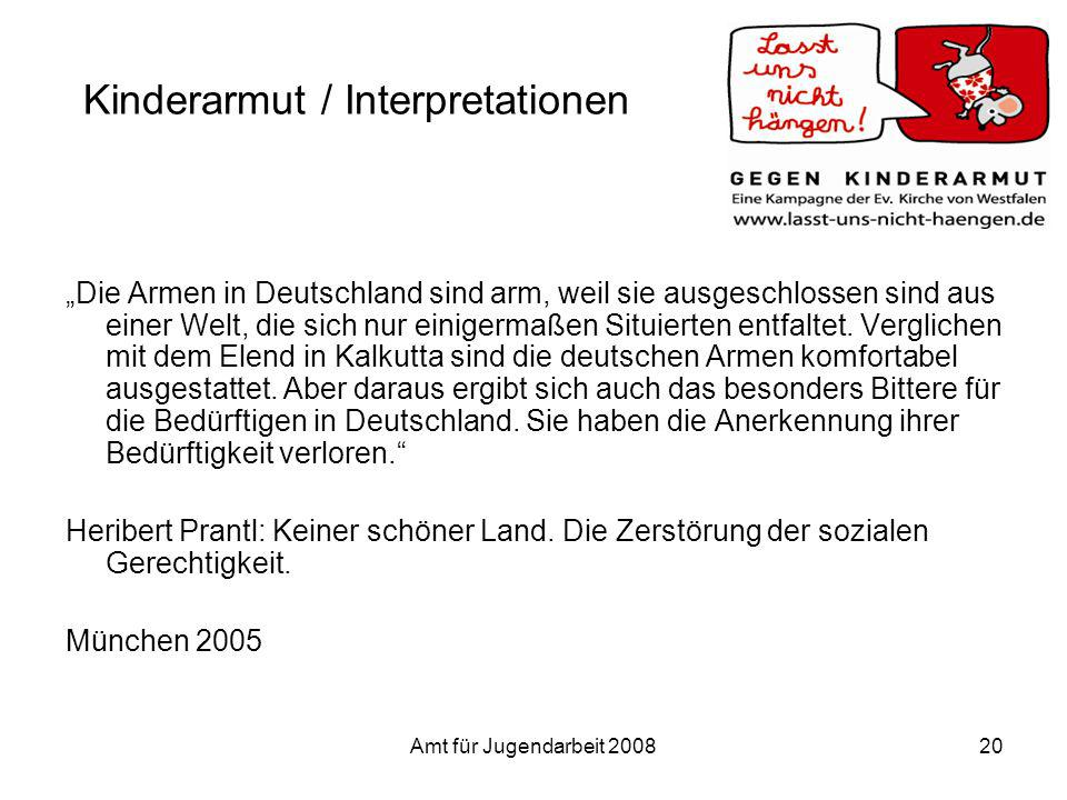 Kinderarmut / Interpretationen