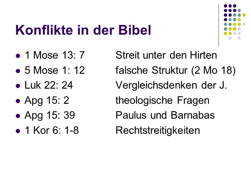 Konflikte in der Bibel 1 Mose 13: 7 Streit unter den Hirten