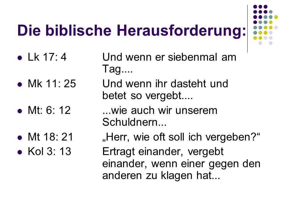 Die biblische Herausforderung: