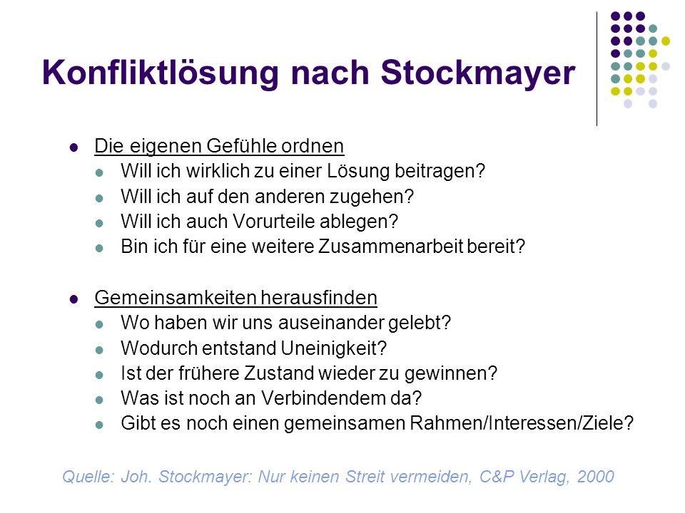 Konfliktlösung nach Stockmayer