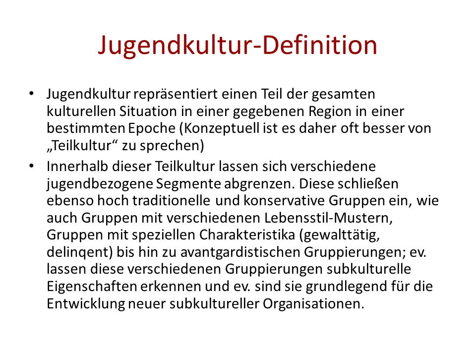 Jugendkultur-Definition