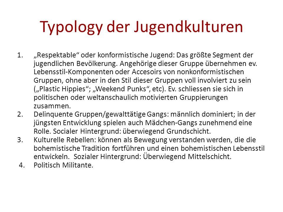 Typology der Jugendkulturen