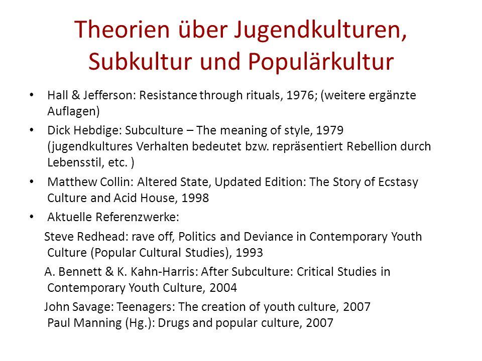 Theorien über Jugendkulturen, Subkultur und Populärkultur
