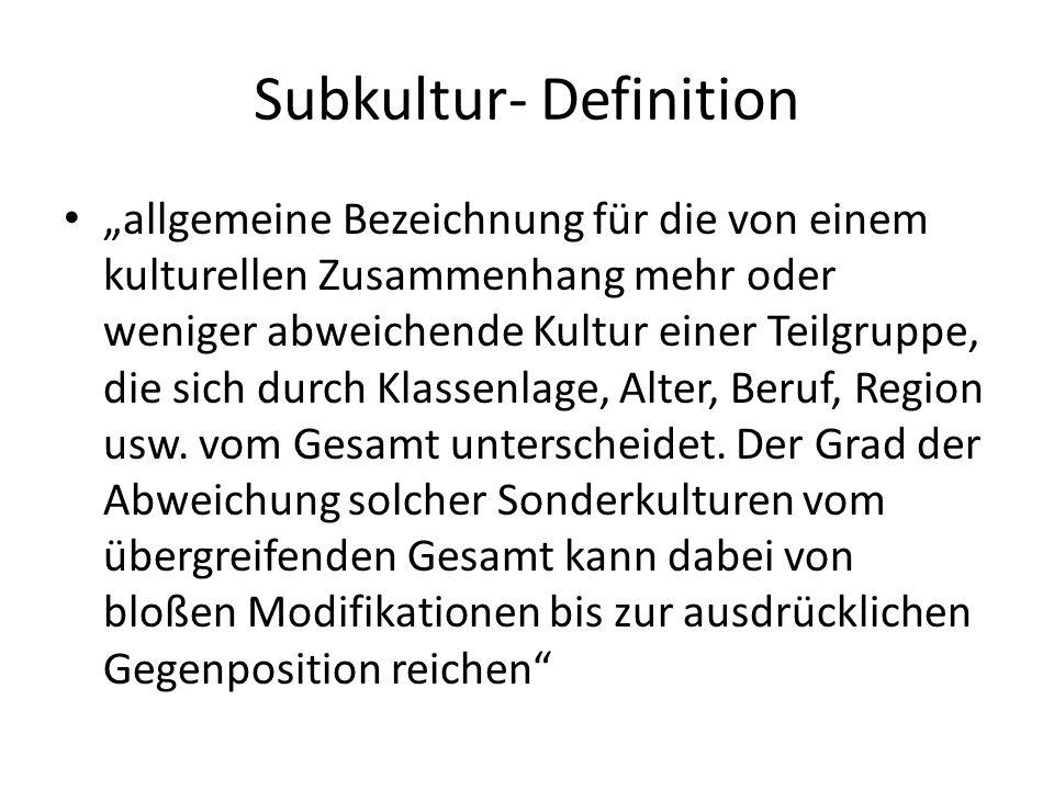Subkultur- Definition