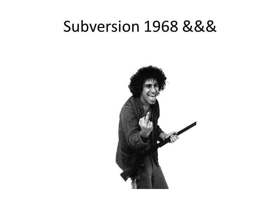 Subversion 1968 &&&