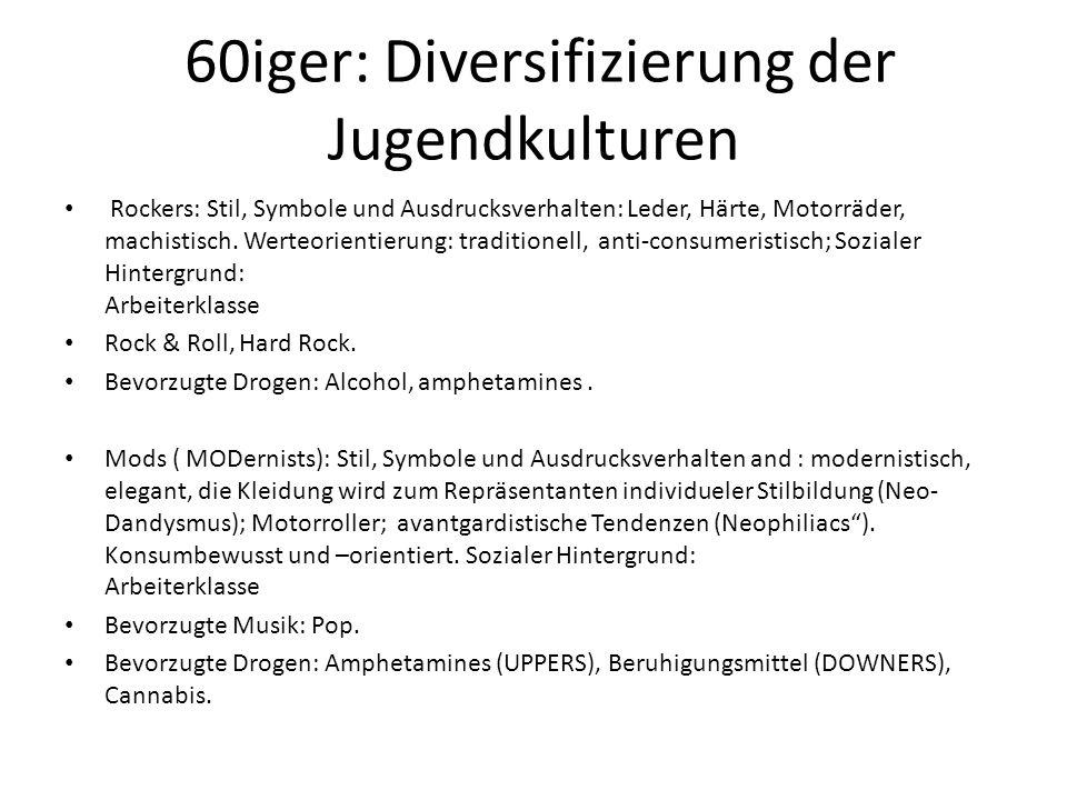 60iger: Diversifizierung der Jugendkulturen